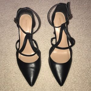 Christian Siriano Black Triangle Heels Size 8